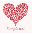 Red valentine heart in floral style vector image
