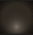 3d tunnel optical vortex twist wireframe vector image vector image