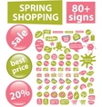 80 spring shopping signs vector image vector image