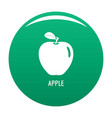 apple icon green vector image