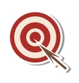 arrow target isolated icon vector image