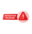 attention please banner or landing page template