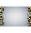 background with fir branches and christmas balls vector image vector image