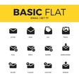 Basic set of email icons vector image vector image