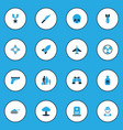 battle colorful icons set collection of aim vector image vector image