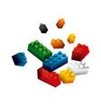 blocks to build design vector image vector image