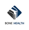 bone care logo vector image