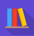 book on shelf icon flat style vector image vector image