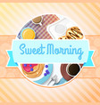 breakfast colorful template vector image
