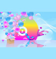 bright abstract background party theme vector image vector image