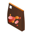 brown candy package icon isometric style vector image
