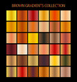 brown color gradients collection for any kind of vector image vector image
