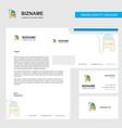 car garage business letterhead envelope and vector image vector image