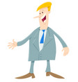 cartoon man or businessman in suit vector image vector image