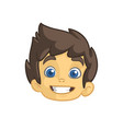 cartoon small boy head vector image vector image