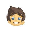 cartoon small boy head vector image