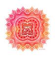 chakra symbol coloring vector image vector image