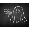 Chalkboard drawing of ghost vector image vector image