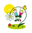 Childhood sign vector image vector image