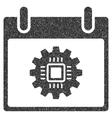 Chip Gear Calendar Day Grainy Texture Icon vector image vector image