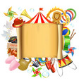 Circus Placard vector image vector image