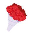 cute bouquet flowers romantic icon vector image vector image