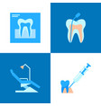 dental treatment icon set in flat style vector image vector image