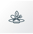 eco food icon line symbol premium quality vector image