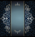elegant golden pattern on blue vector image vector image