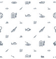 fishing icons pattern seamless white background vector image vector image