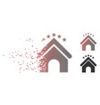 fractured pixel halftone hotel stars icon vector image vector image