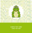 Fun card animal vector image vector image