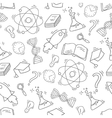 Hand Drawn Science seamless pattern vector image