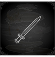 Hand Drawn Sword vector image vector image