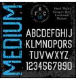 Handmade retro font Sans serif vector image vector image