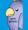 happy birthday to you parakeet cartoon vector image vector image