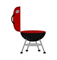 isolated barbecue grill icon vector image vector image