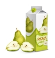 Juice pack pear vector image vector image