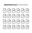lineoutline flat style icon set source code vector image vector image