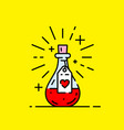 love potion icon vector image vector image