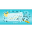 Magnifier with Diagram on Squared Paper vector image vector image