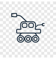 mars rover concept linear icon isolated on vector image