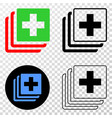 medical data eps icon with contour version vector image vector image