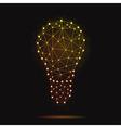 modern atomic bulb vector image vector image