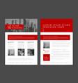 modern brochure template flyer design template vector image vector image