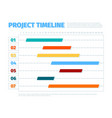 project schedule agenda dates ui interface for vector image vector image