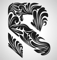 R calligraphic element vector image