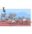 rat race cartoon vector image vector image