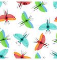 seamless pattern with dragonfly vector image vector image