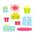 set of bright and colorful vector image vector image